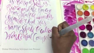 kerstwensen ik schrijf met penseel for unto us