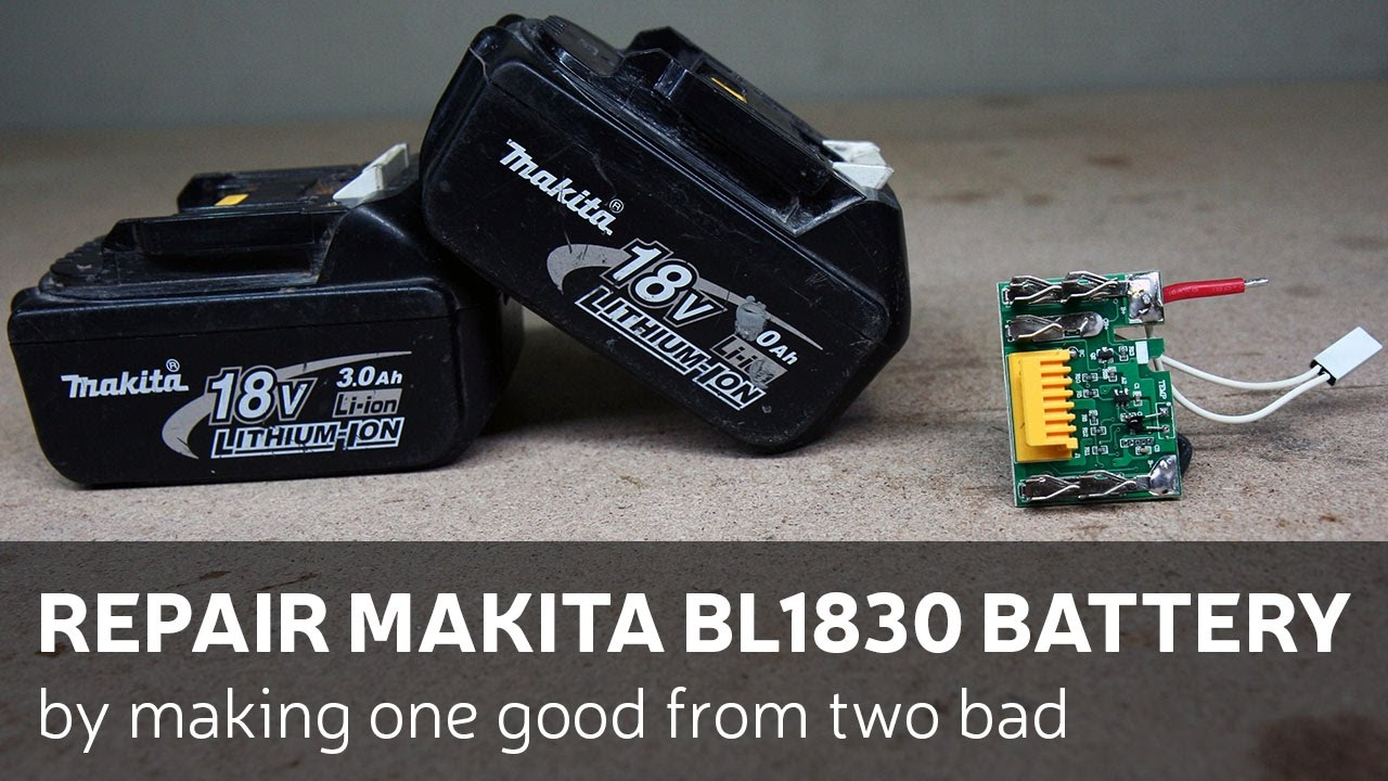 Repair Makita Bl1830 Battery By Making One Good From Two Bad Youtube Radial Lighting Circuit Wiring Diagram
