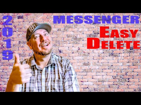 How To Delete ALL Facebook Messages All At Once 2019