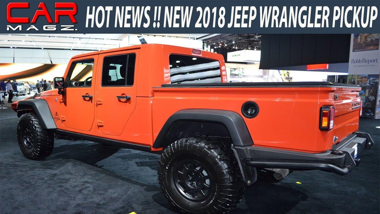 2019 Jeep Wrangler Pickup Truck Spied Specs