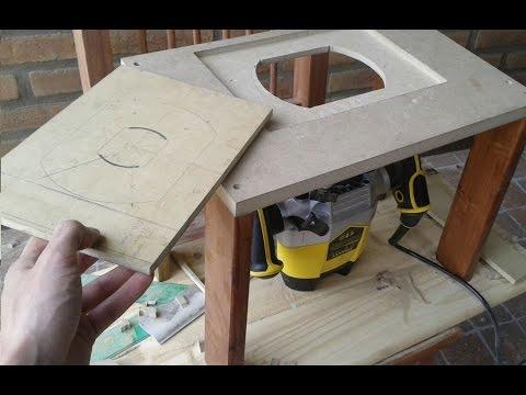 Como hacer mesa fresadora mesa tupi herramienta de for Mesa fresadora casera