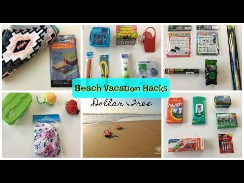 DOLLAR TREE | Beach Vacation Hacks | 2017
