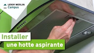 Comment d corer hotte cheminee - Comment installer une hotte aspirante ...