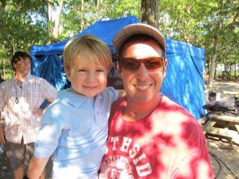"2 Year Old Baseball Kid Christian Haupt and Adam Sandler filming ""That"