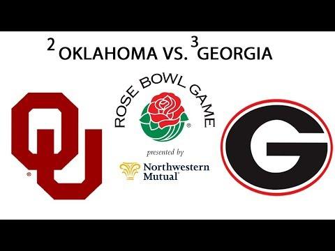 2018 Rose Bowl Georgia vs Oklahoma College Football Semifinal FULL GAME