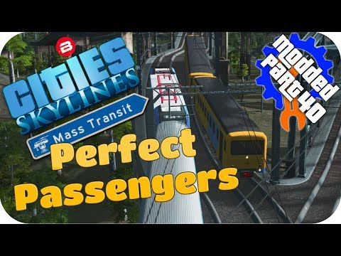 Cities Skylines Gameplay: INVISIBLE TRAIN STATION!?! Cities: Skylines Mods MASS TRANSIT DLC #40