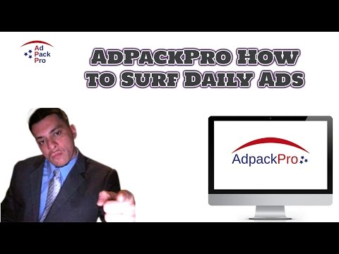 AdPackPro How to Surf Daily Ads