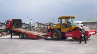 Video still for Loading Dynapac Duoble Drum Roller - Heavy Equipment