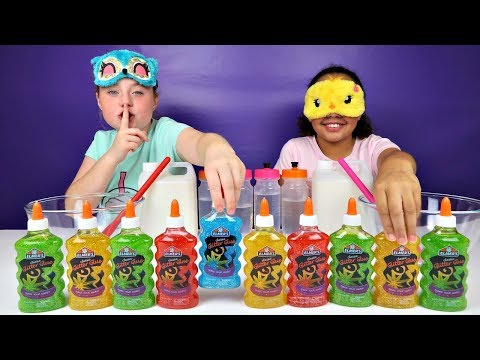 ISLA CHEATED!! Blindfolded Slime Challenge