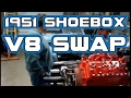 1951 Shoebox Ford Flathead v8 Engine Swap