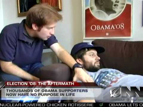 Obama Win Causes Obsessed Backers To See How Empty Lives Are