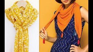 11 stylish ways to wrap a dupatta like scarf or stole DIY (Hindi version)