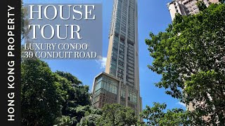 🇭🇰 4K HOUSE TOUR | 39 CONDUIT ROAD - LUXURY HIGHRISE IN MID LEVELS  | Hong Kong