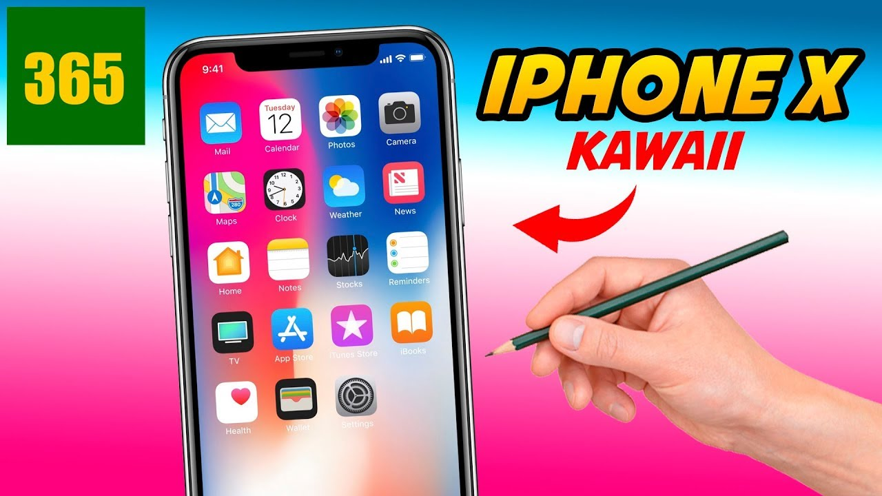 Comment Dessiner Iphone X Kawaii étape Par étape Dessins Kawaii Facile
