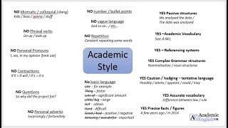 Academic Style (Academic Writing)