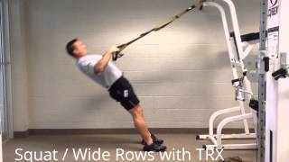 stewsmith fitness library squats wide rows with trx