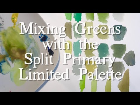 Limitless Palette: Mixing Greens with Watercolour