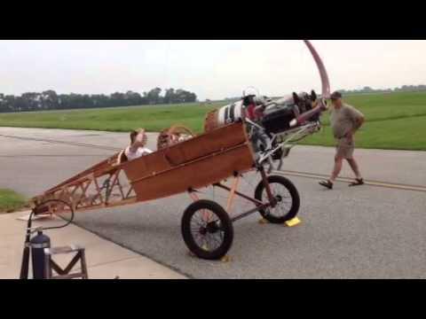Corvair-Pietenpol first engine start