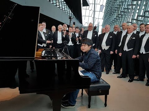 Nobuyuki Tsujii in Iceland 1 -- A surprise welcome at the Harpa