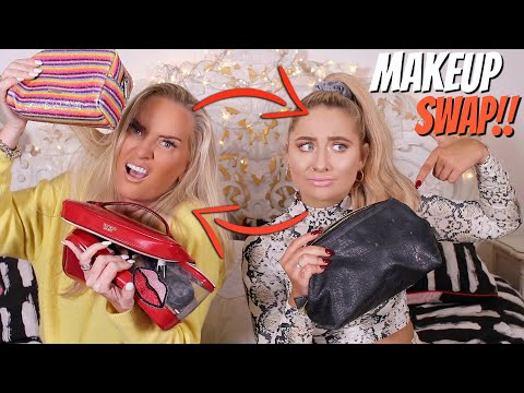 Makeup bag SWAP with MY MUM!! 😱 Swapping makeup!!