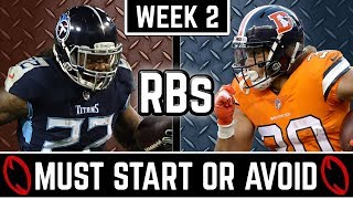 Must Start and Avoid - Running Back - 2019 Fantasy Football (Week 2)