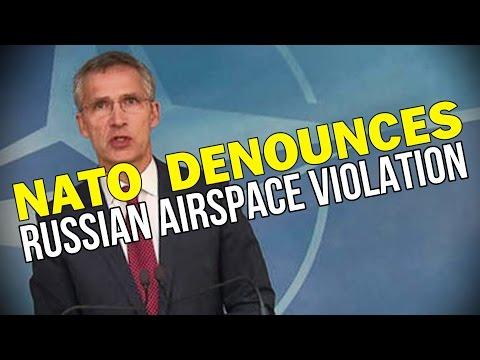 NATO DENOUNCES RUSSIAN AIRSPACE VIOLATION