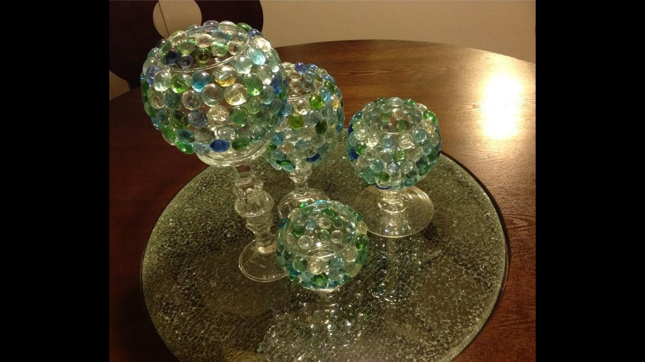 Diy Glass Beads Candle Vases Goodwill Dollar Tree Youtube