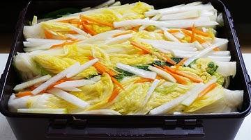 백김치 맛있게 담그는 방법 끝까지 아삭하고 시원한 백김치 비법