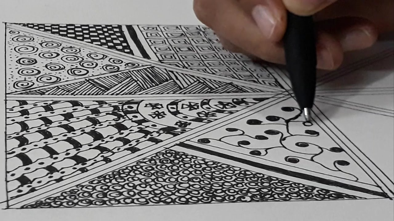 How to draw zentangle pattern zentangle for beginners for Drawing patterns for beginners
