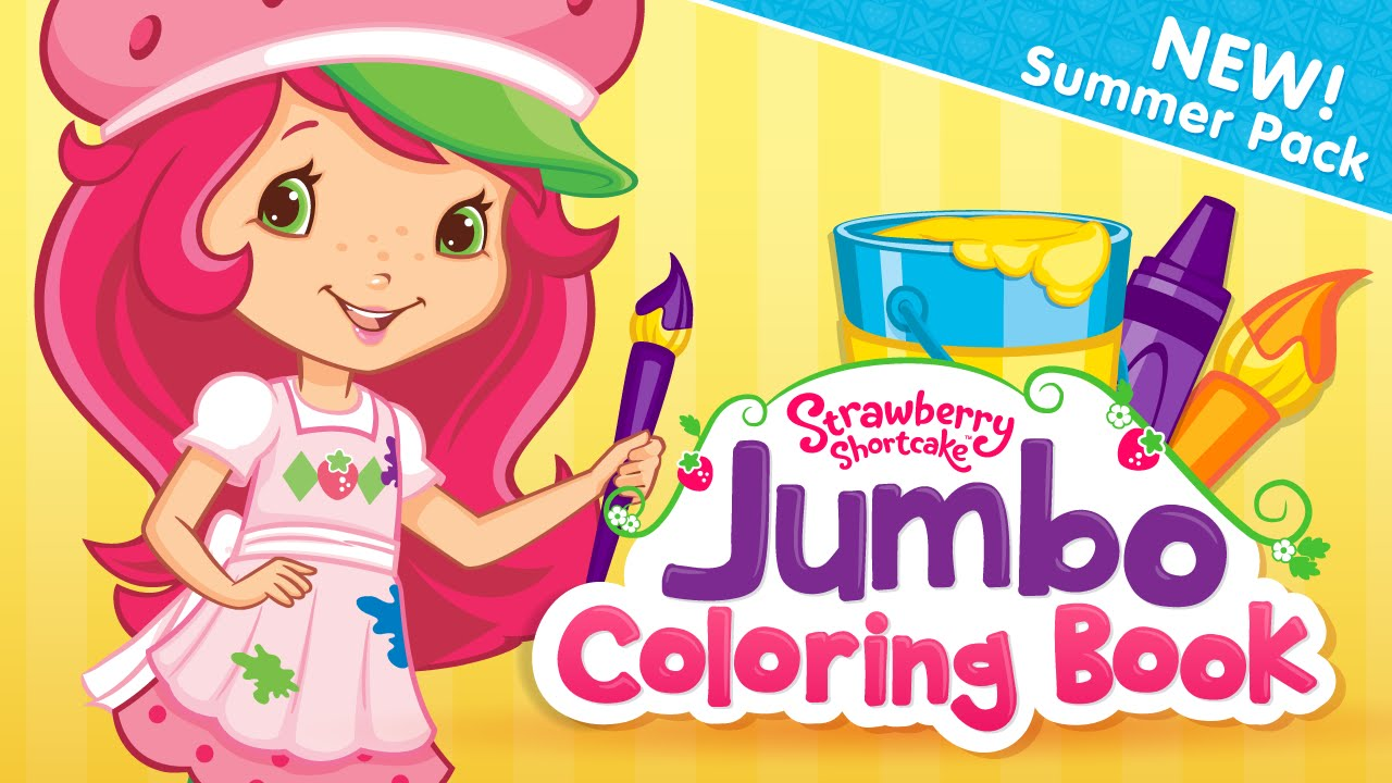 Strawberry Shortcake Jumbo Coloring Book - Kids & Children Best ...
