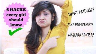 6 HACKS EVERY GIRL SHOULD KNOW! | Manasi Mau