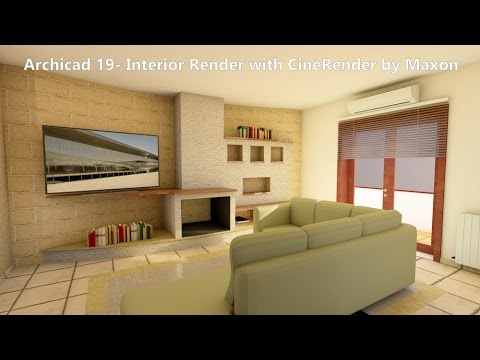 archicad 19 interior render with cinerender by maxon. Black Bedroom Furniture Sets. Home Design Ideas