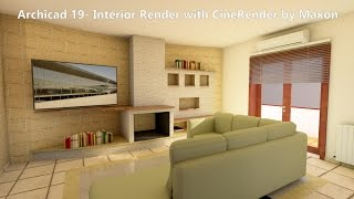 Archicad 19: Interior Render with CineRender by Maxon