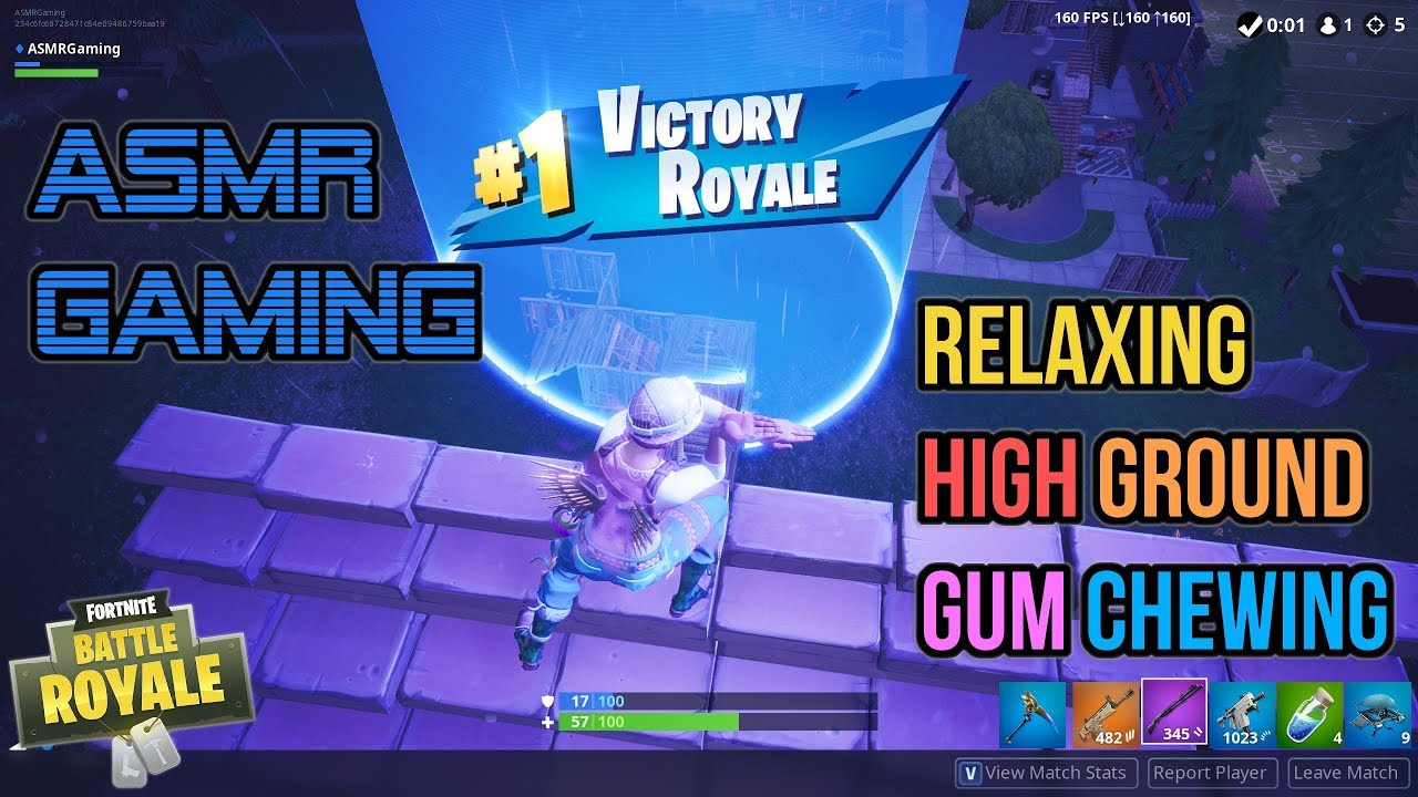 ASMR Gaming | Fortnite Relaxing High Ground Gum Chewing