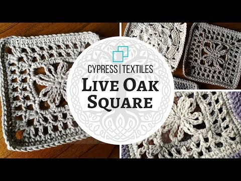 VVCAL 2018 Week 4 Crochet Motif: Live Oak Square