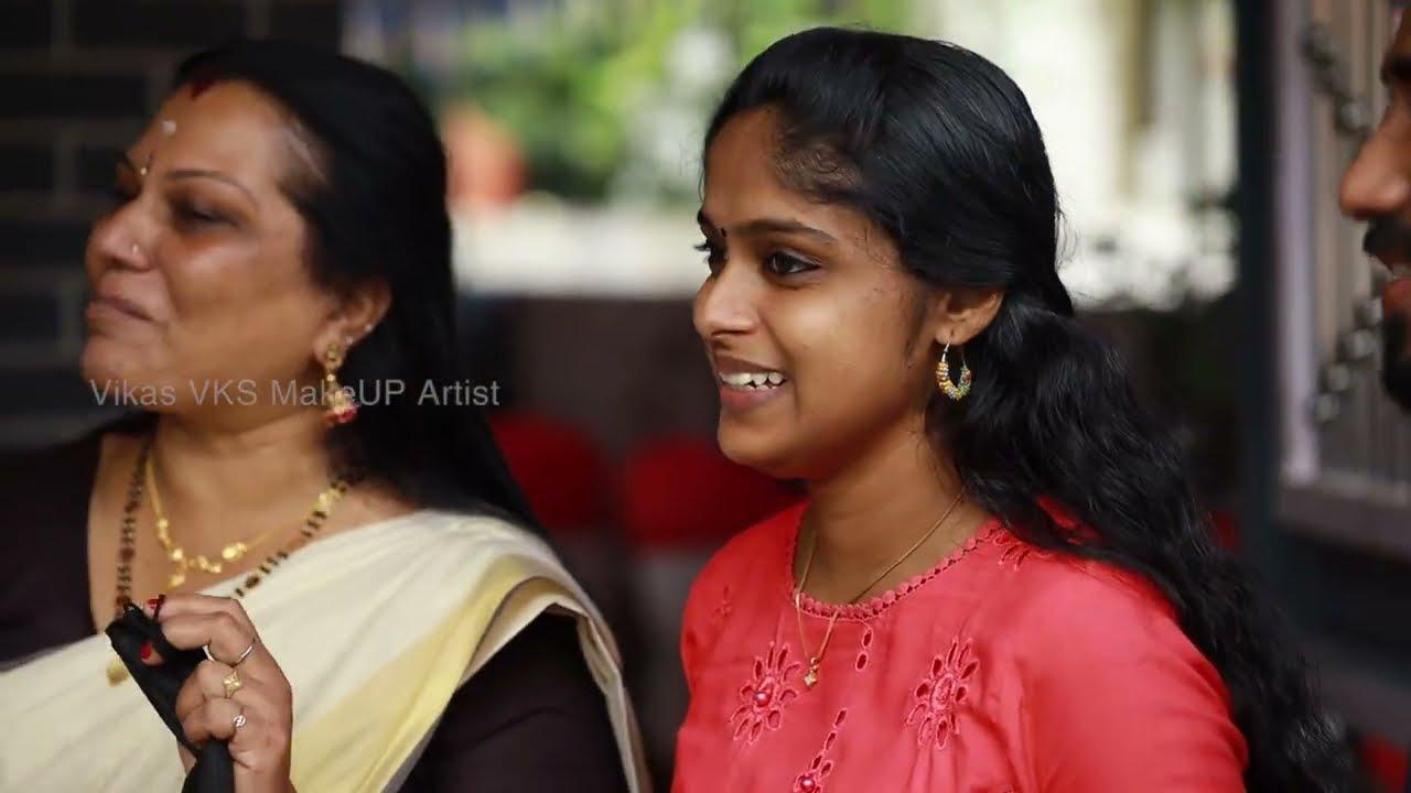 Kerala hindu bridal makeup at Kayamkulam I Happy bride stories I Vikas vks Malayalam  makeup artist