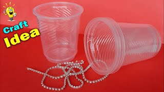 Best Craft Idea out of Waste Disposable Glass   Desk Organization   Handmade Craft Waste Mathi Best