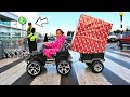 GIANT SLIME PRESENTS TOY HUNT!! Power Wheels Kids Cars