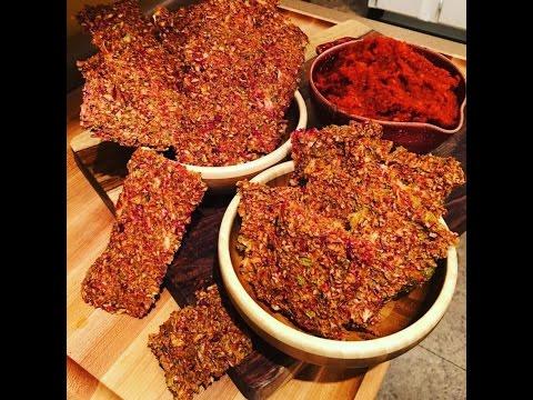 Garden-Veggie-Flax Crackers -Raw Vegan-start to finish :) How to Wet Chop !