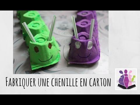 diy fabriquer une chenille en carton avec une bo te d. Black Bedroom Furniture Sets. Home Design Ideas