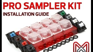 Max Keyboard Keycap, Cherry MX Switch, O-Ring Pro Sampler Tester Kit Installation Guide