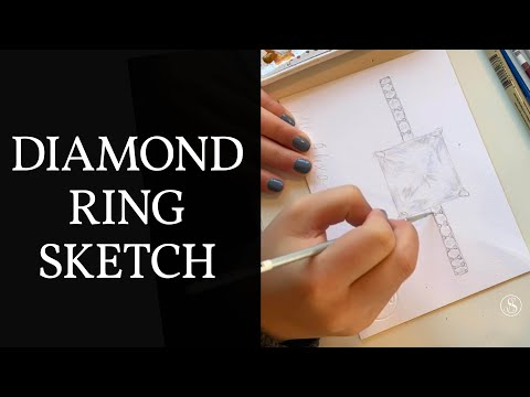 ring-drawing-|-diamond-ring-design-timelapse