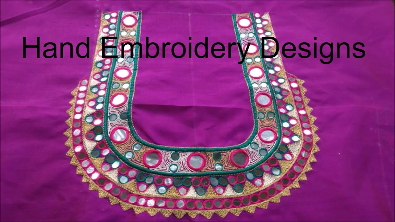 Hand embroidery stitches for beginners