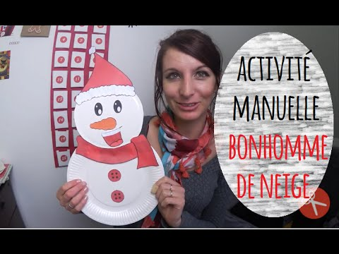 activit manuelle noel bonhomme de neige youtube. Black Bedroom Furniture Sets. Home Design Ideas