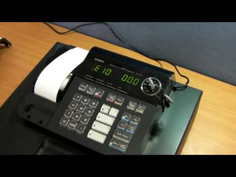 How To Fix E-10 Error On Casio SE-S10 Cash Register - Possible Causes Of E-10 Error Message