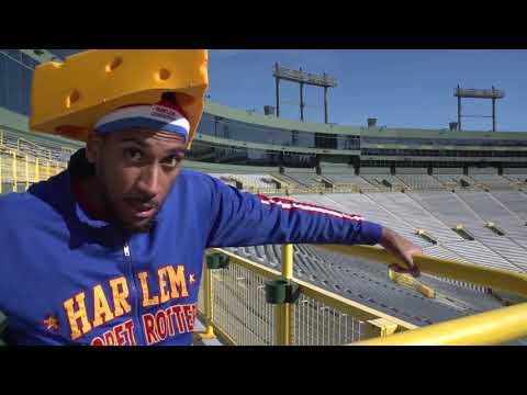 Lambeau Field Trick Shot | Harlem Globetrotters