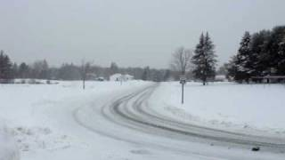 Snow in Orono, Maine, US,