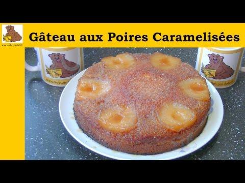 gâteau-aux-poires-caramélisées---recette-rapide-et-facile