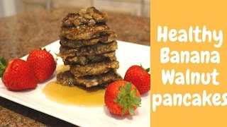 How to Make Healthy Banana Walnut Pancakes (Dairy-Free)  Let's Bake It