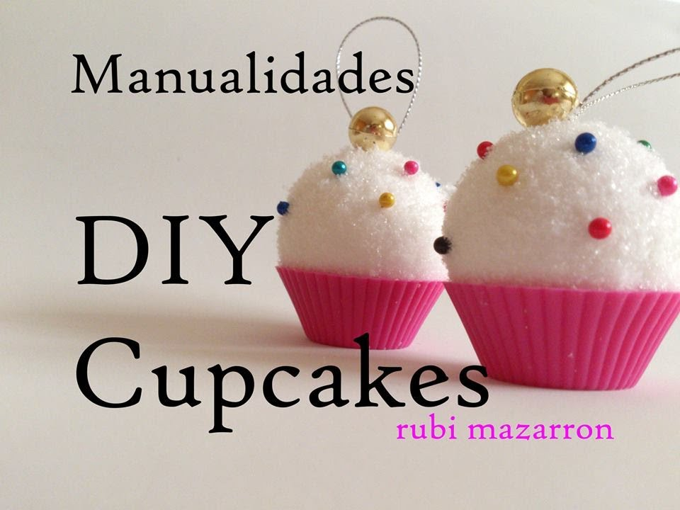 Diy cupcakes de porexpan youtube for Como decorar bolas de corcho blanco